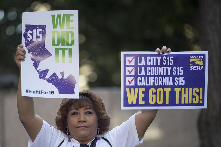 The minimum wage in the city of Los Angeles was raised Saturday, the second such hike since Mayor Eric Garcetti signed a measure in 2015 that will gradually increase it to $15 per hour by 2020.