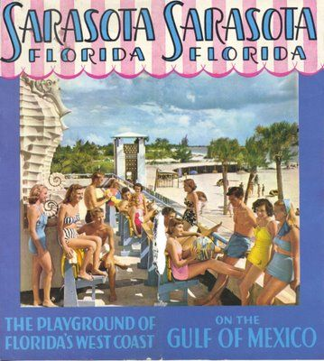 Sarasota Florida Book. The beautiful lady in the  BRIGHT YELLOW bathing suit is my Grandmother, Marjorie Lee (Then Marjorie Sartorio) @ the old Lido Beach Casino