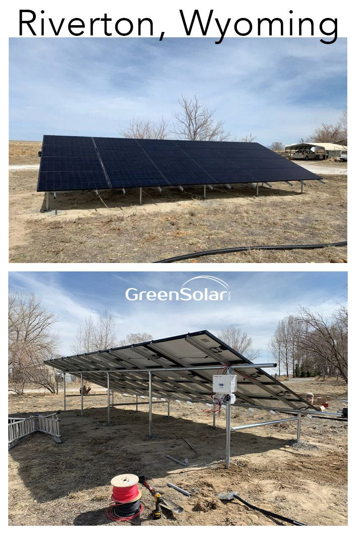 Ground Mount Photovoltaic System In Riverton Wy Photovoltaic System Solar Installation Riverton