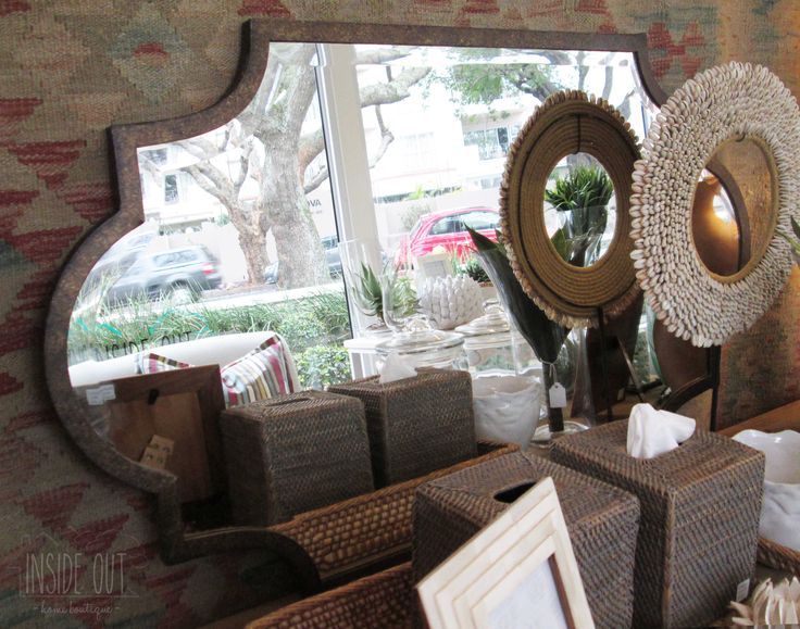Bronze Finish Shaped Mirror - 900 x 530mm - Inside Out Home Boutique - Please check stock availability