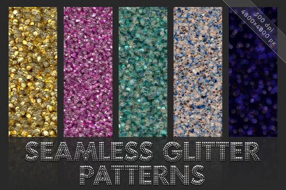 Glitter patterns. Seamless textures by GivArt on @creativemarket