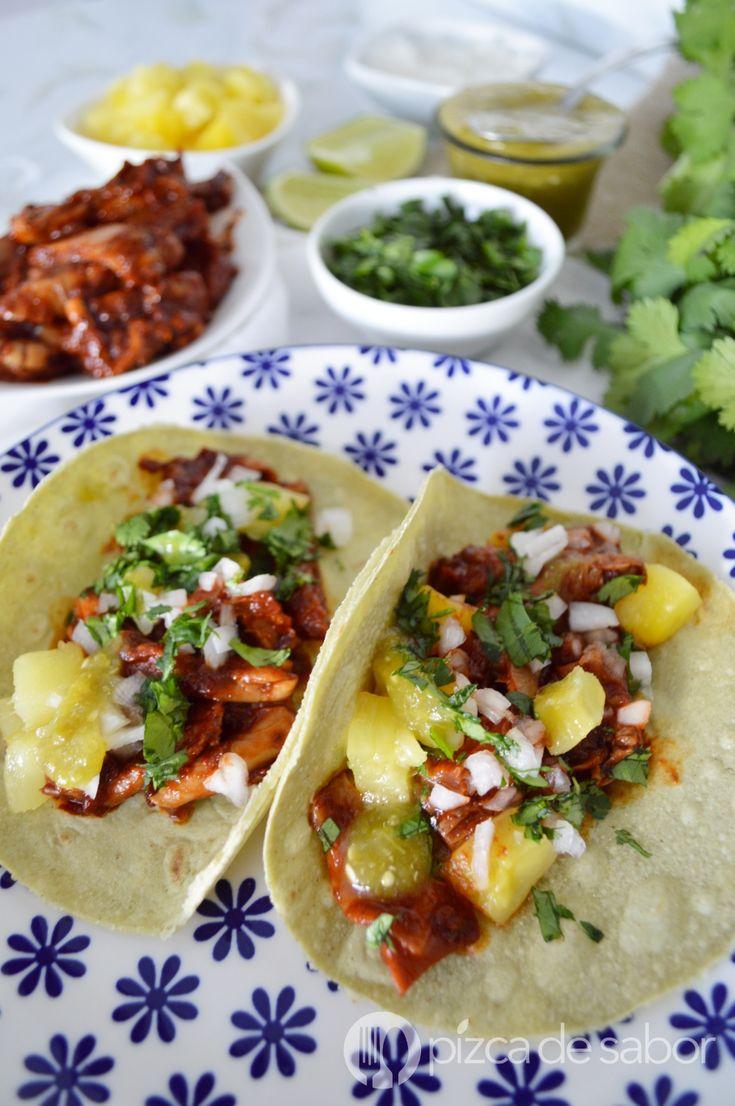 Setas al pastor o tacos al pastor veganos www.pizcadesabor.com