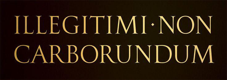Illegitimi Non Carborundum - To print or not to print?