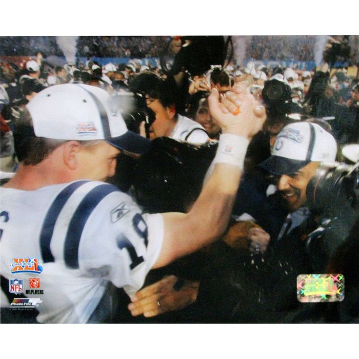 Tony Dungy SB XLI Close up view horizontal with Peyton Manning 8x10 Photograph - . Gifts > Licensed Gifts > Nfl > Denver Broncos. Weight: 1.00