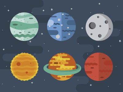 Planets by Mariela Pena | Dribbble