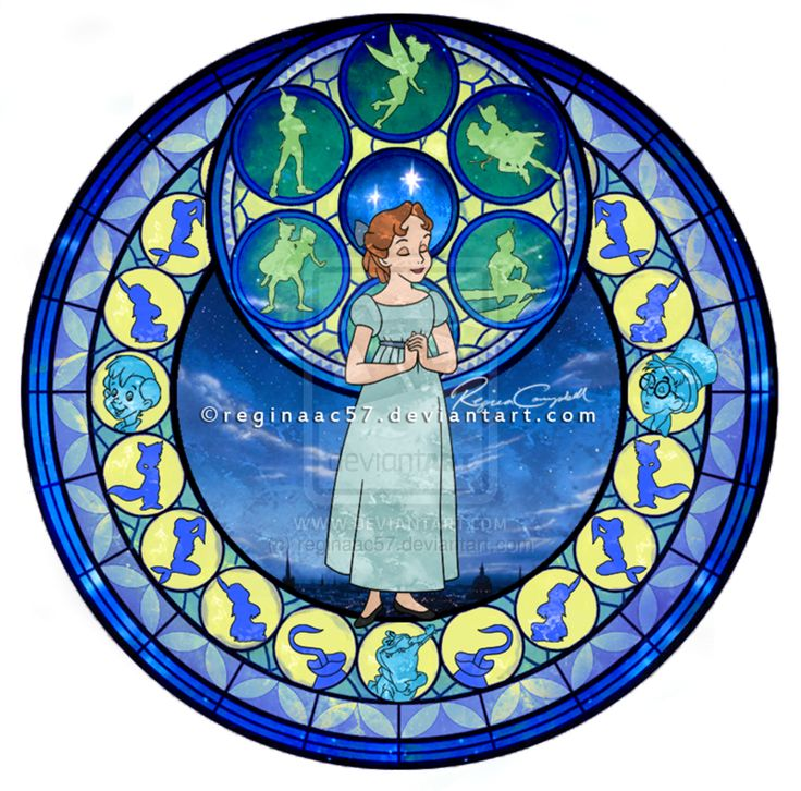 Wendy - Kingdom Hearts Stain Glass by reginaac57.deviantart.com