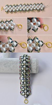 Wanna this pearl bracelet? LC.Pandahall.com will teach you how to make it.