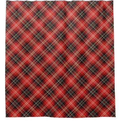 Plaid Pattern Tartan Shower Curtain