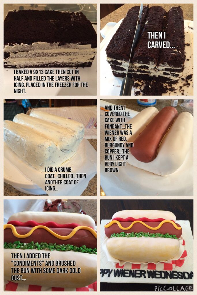 Hot Dog Cake Tutorial