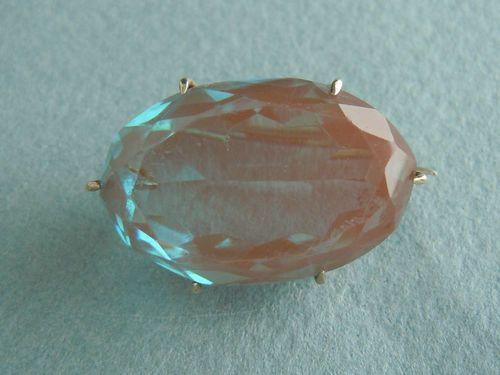 Large Edwardian Single-Stone Saphiret Brooch