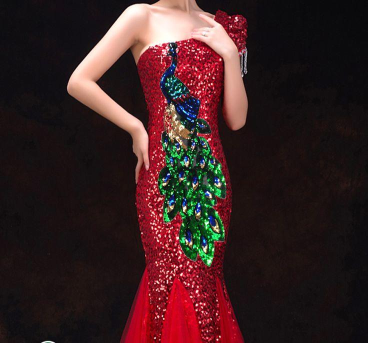 Cheap Sequin del pavone ricamato patch di lusso del vestito del pavone accessori decorativi RS938, Compro Qualità Pizzo direttamente da fornitori della Cina:                       Di