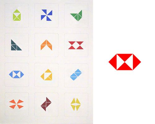 """Rebuilding  HSBC Logo""  Jain http://www.artcodex.org"