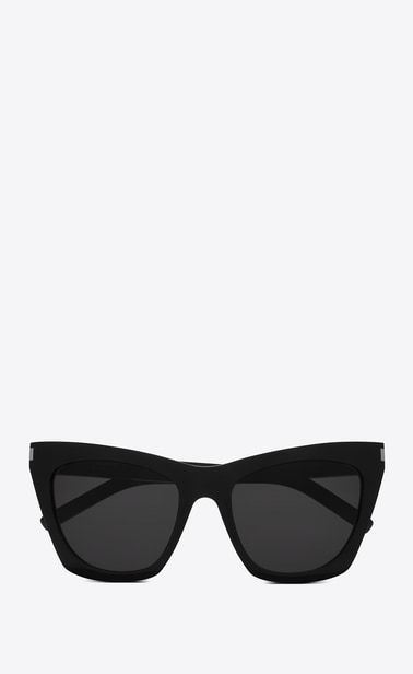 b683d500d8 SAINT LAURENT NEW WAVE Woman NEW WAVE 214 KATE sunglasses in black acetate  and gray lenses a V4