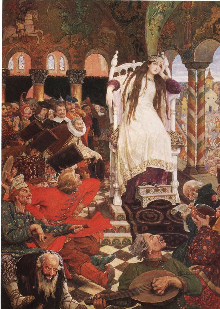 Viktor Vasnetsov, The princess who never smiled, 1914-1916