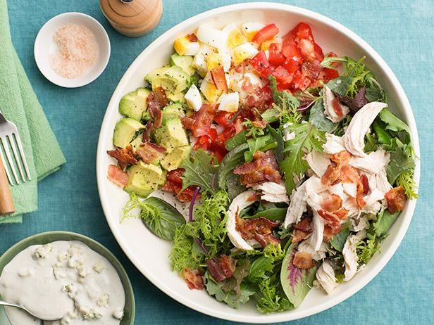 Cobb Salad #UltimateComfortFood: Food Network, Salad Recipes, Cobb Salad, Food Ideas, Foodnetwork Com, Network Kitchens, Comforter Food, Cooking Bacon, Recipes Food Desert Drinks