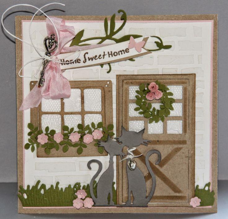 Creaties met Papicolor papier: even voorstellen / home sweet home