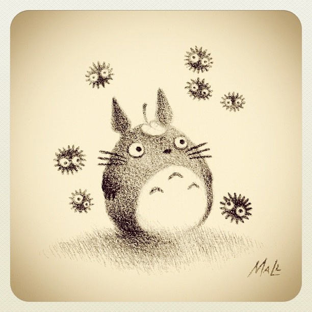 Totoro Drawing by May Ann Licudine