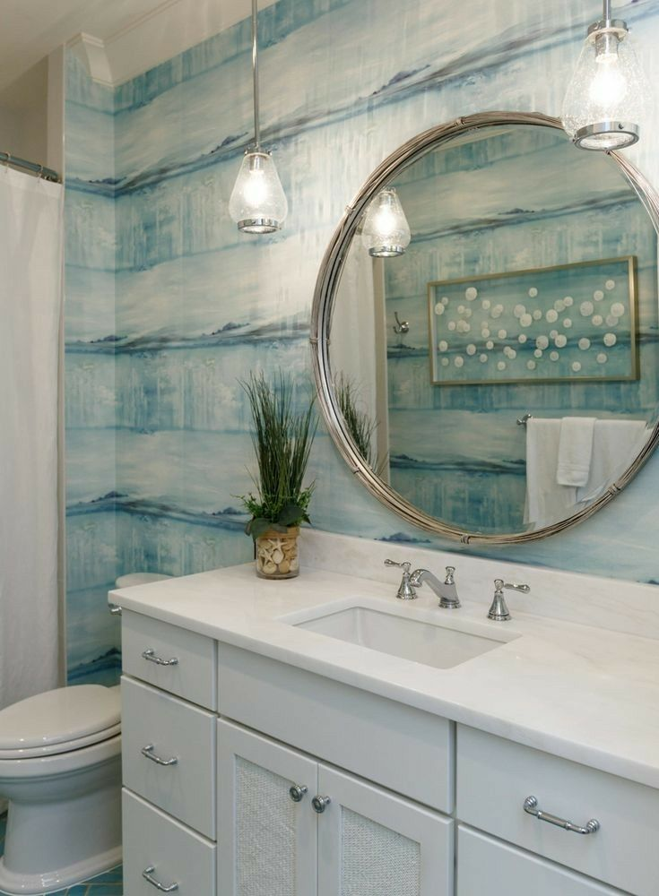 Wallpaper Bathroom Beach