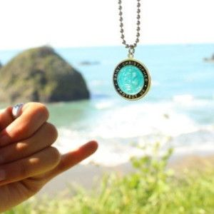 St Christopher surfer necklace