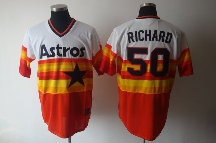 new style b5a3c 4b3d3 mlb jerseys houston astros 50 j. r. richard white with ...