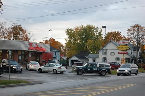 Tim Horton's drive through line-ups; a serious Canadian problem.
