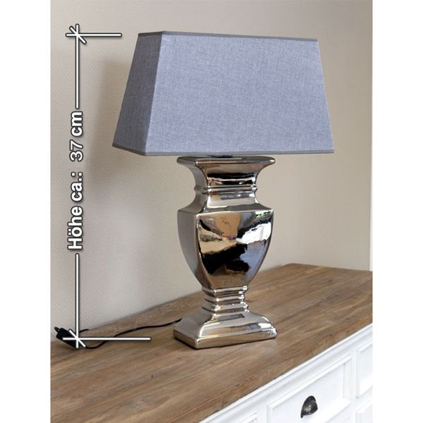 Tischlampe Mit Grauem Schirm Auswahl: 1 X Tischlampe Mit Grauem Schirm  Material: Lampenfuß: