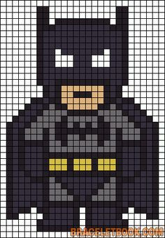 Batman perler bead pattern-could also work for a quilt pattern :) | best stuff