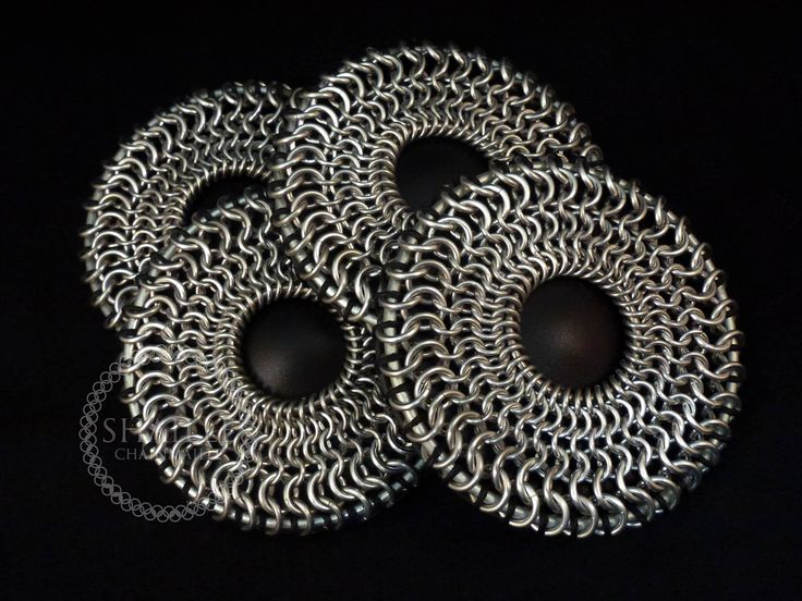 Chainmaille Coaster Set of 4 by ShailleChainmaille on Etsy