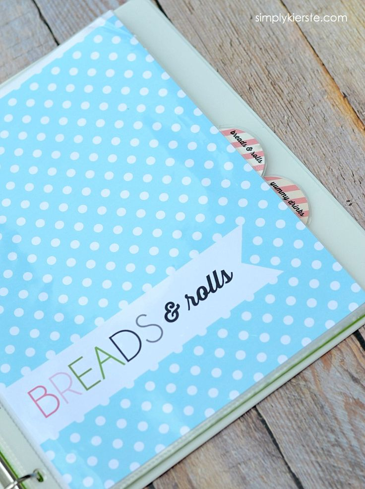 diy wedding binder templates - best 25 recipe binders ideas on pinterest cookbook