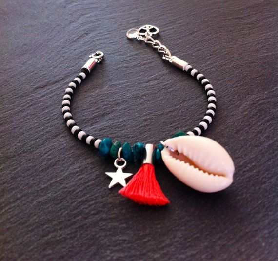 Bracelet de l'amitié orné de perles par TDFTheDreamFactory sur Etsy, €8….