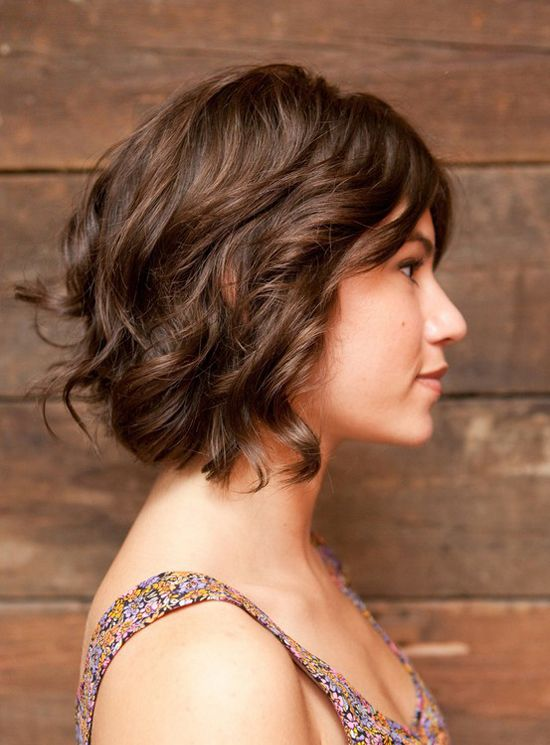 Curly bob.Haircuts, Bobs Hairstyles, Wavy Bobs, Wavy Hair, Layered Bobs, Hair Cut, Curly Bob, Hair Style, Shorts Hairstyles