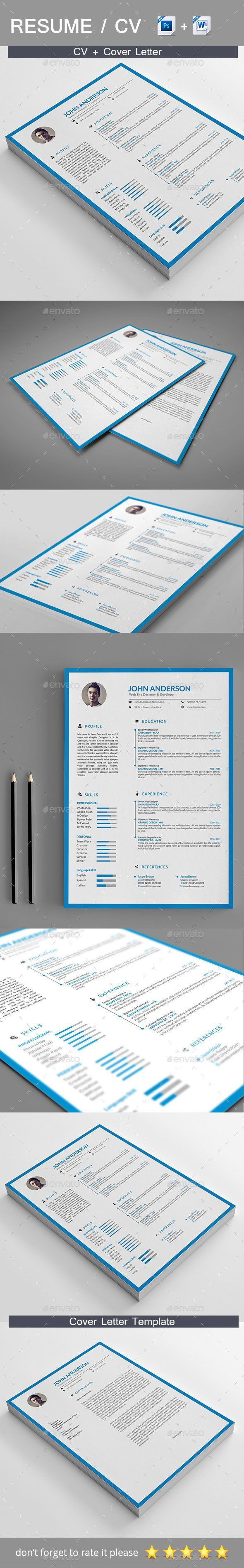 Professional Resume by RealisticArt The perfect way to make the best impression. Strong typographic structure and very easy to use and customise. – The resume have a
