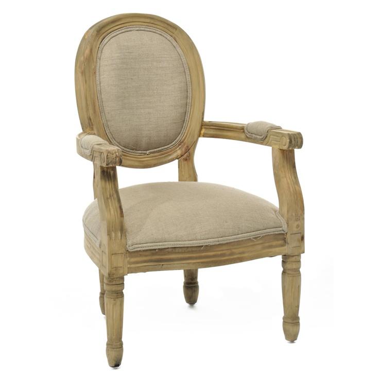 Chaise en bois et tissu traditionnel Louxi