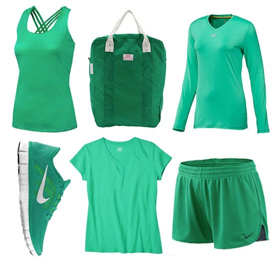 Workout Clothes in Emerald Green -- Just because you're on vacation doesn't mean the work outs need to slip. #LetsGetLost