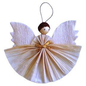 Cornhusk angel ornament