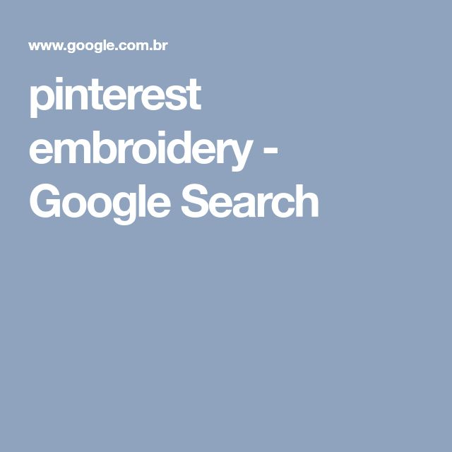 pinterest embroidery - Google Search