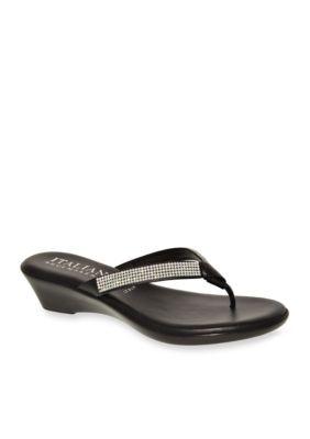 Italian Shoemakers Black Ivory Sandal