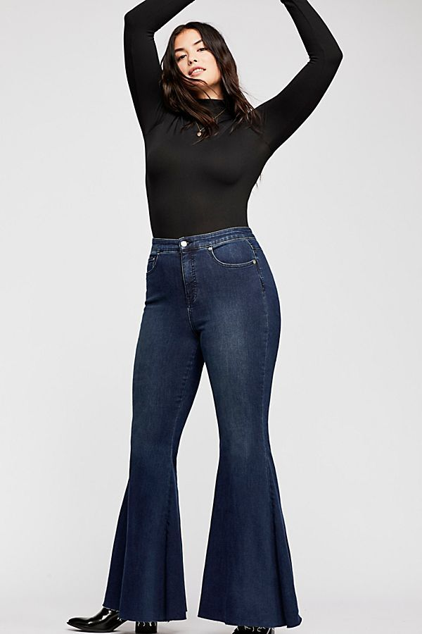ebfd766486f394 CRVY Super High-Rise Lace-Up Flare Jeans in 2019 | I'd wear most of ...