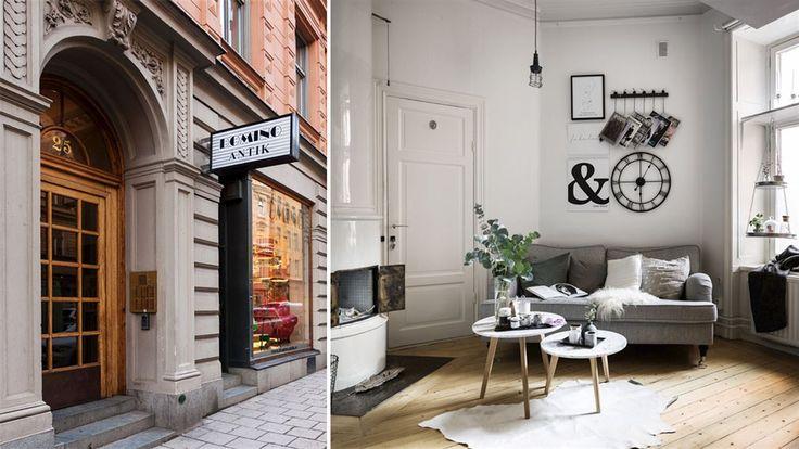 Går det att få plats med både kakelugn, rymligt sovloft, soffa och matplats på 17 kvadratmeter – och samtidigt ha det fint? Ja, i den här miniettan i Stockholm city är det möjligt!