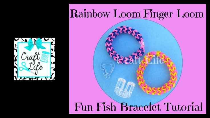 how to make a rainbow loom bracelet with fingers