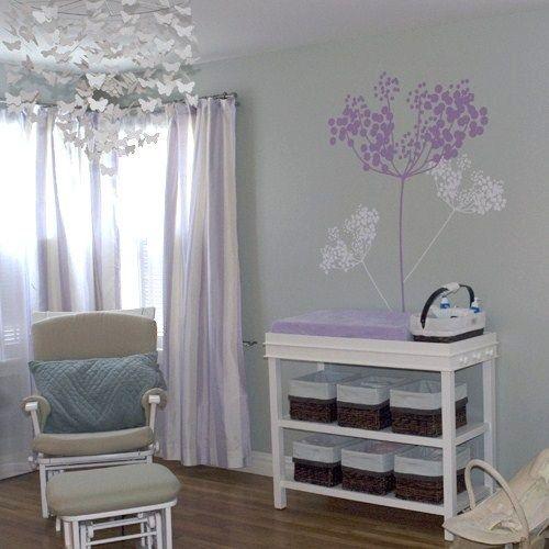 Butterflies & Babies | Project Nursery Another grayish and lavender scheme