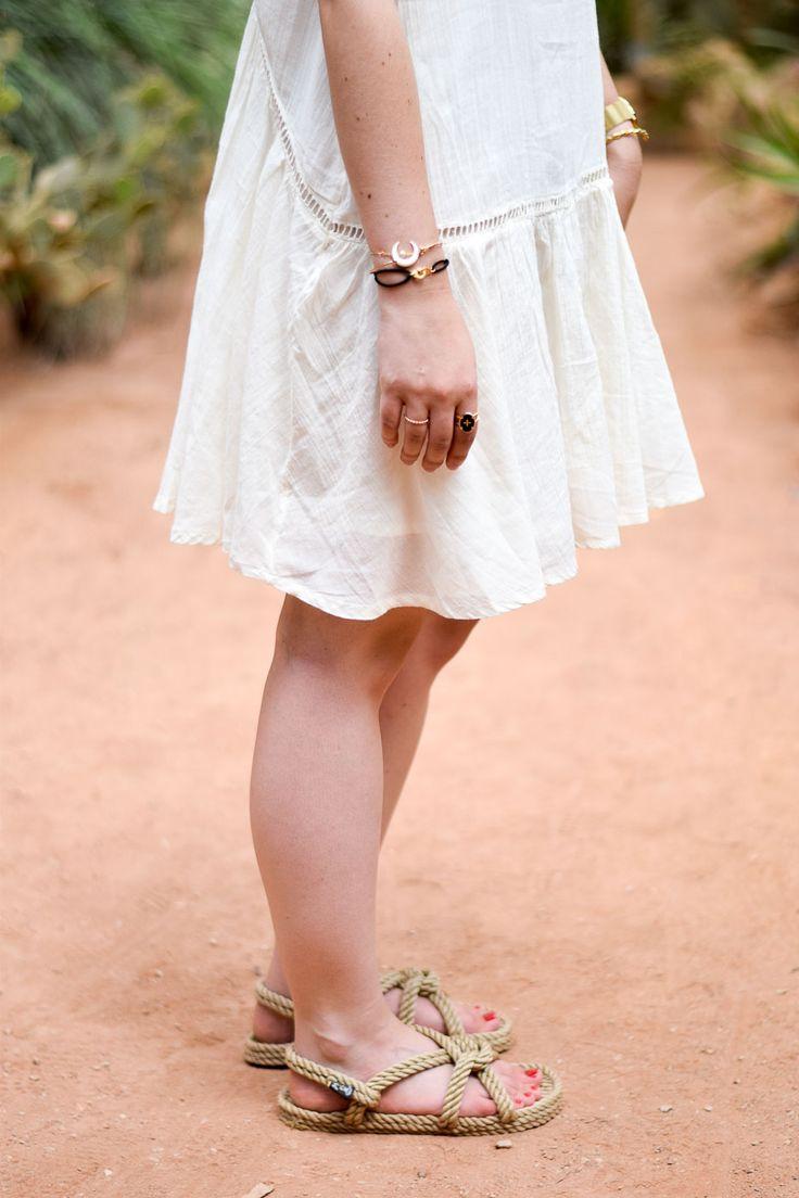 robe blanche dos nu pimkie serre tropicale lyon tête d'or nomadic state of mind sandales panier rond osier l'équitable