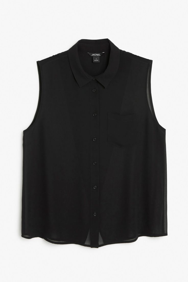 Sleeveless back overlap blouse
