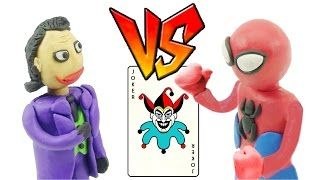 Spiderman Joker Fighting! Frozen Elsa/ Joker/ Spiderman Play Doh Stop Motion Superhero in Real Life - YouTube
