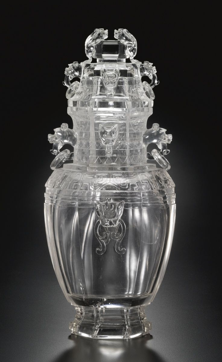 215 best vase images on pinterest chinese art flower vases and a large carved rock crystal vase and cover qing dynasty century reviewsmspy