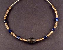 Stammes-Halsreif aus Indien, ethnische indische Perlen Halskette, ethnische tribal Schmuck