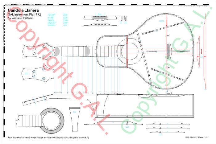 GAL Instrument Plan #72 Bandola Llanera