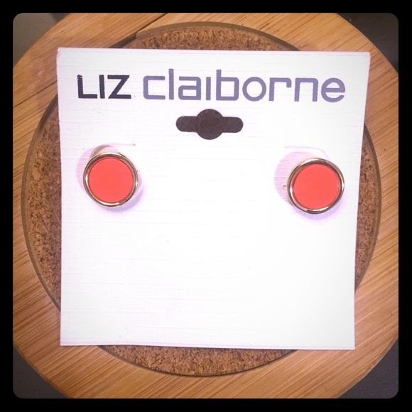 Liz Claiborne Earrings Orange studs from Liz Claiborne. Never worn. Liz Claiborne Accessories
