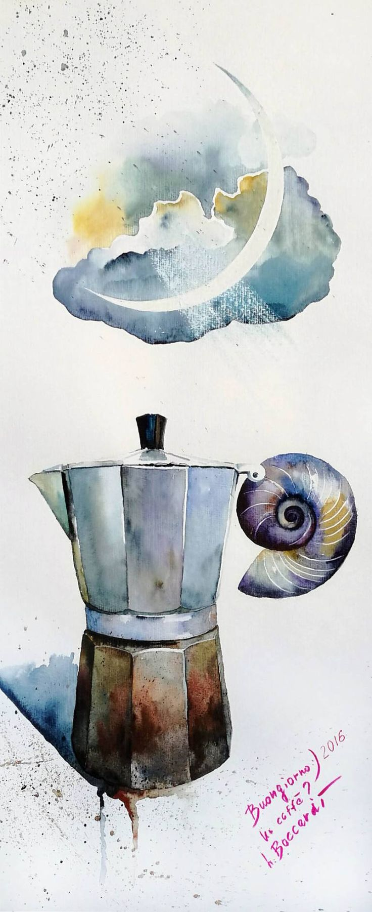 "Saatchi Art Artist Luba Boccardi; Painting, ""Buongiorno"" #art"