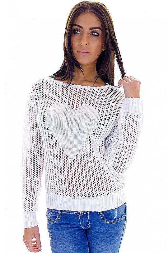 Схема узора для ажурного пуловера с сердцем - Вязание - Страна Мам